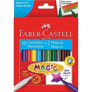 Caneta Hidrográfica Magic 10 Cores+2 Faber-Castell