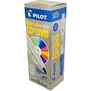 Caneta Para Cd 2.0mm Ponta Media Azul Pilot