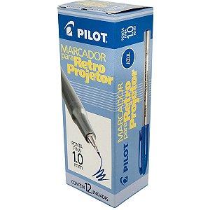 Caneta Retroprojetor 1.0mm Marcador Azul Pilot