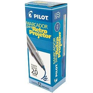 Caneta Retroprojetor 2.0mm Marcador Azul Pilot