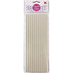 Canudo Biodegradável Branco 6x200mm Bl.C/12un Make+