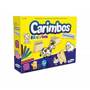 Carimbo Pedagógico Animais Do Sitio P/Colorir Xalingo