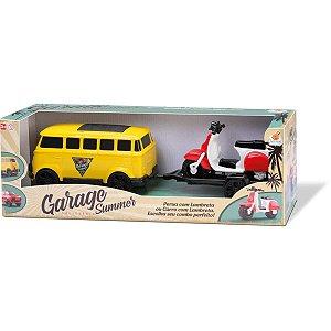 Carrinho Garage Summer Furgao Cores Sor Orange Toys