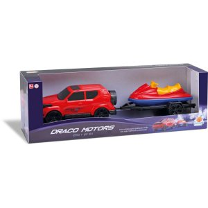 Carrinho Jeep Draco Jet Ski Orange Toys