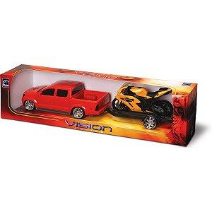 Carrinho Pick-Up Vision Racing C/Moto Roma