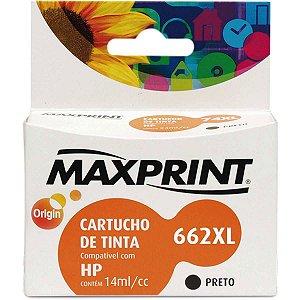 Cartucho Compatível Hp 662xl Cz105a Preto Maxprint
