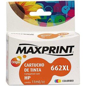 Cartucho Compatível Hp 662xl Cz106a Colorido Maxprint