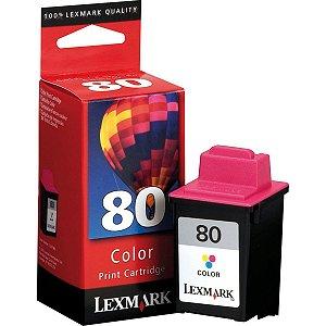 Cartucho Original Lexmark 80 Colorido X125/X83/Z82/X63 Lexmark