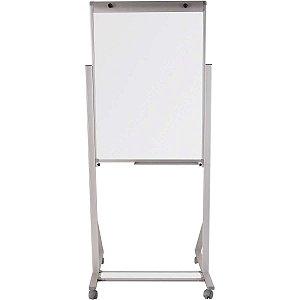 Cavalete Para Flip-Chart Aluminio 100x70cm Bco C/Rodiz. Souza