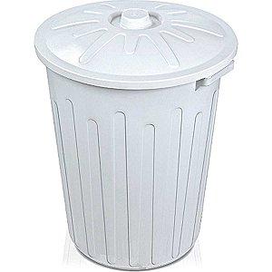Cesto Para Lixo 65l Fechado Com Tampa Branco Arqplast