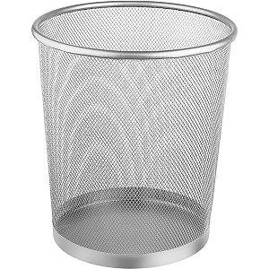 Cesto Para Lixo Metal Redonda 8,5l Prata Ordene