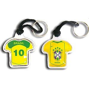 Chaveiro Do Brasil Camisa Curto C/Gel Sortido Enjeplastic