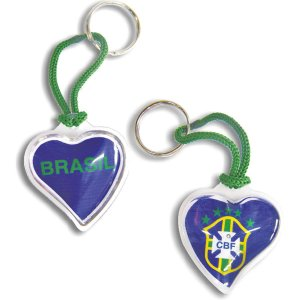 Chaveiro Do Brasil Coracao Curto C/Gel Sortidos Enjeplastic