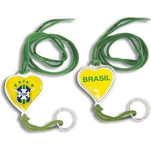 Chaveiro Do Brasil Coracao Moto C/Gel Sortidos Enjeplastic