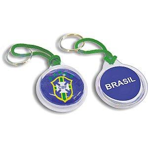 Chaveiro Do Brasil Redondo Curto C/Gel Sortido Enjeplastic