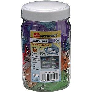 Chaveiro C/60 + 60 Etiquetas Cores Acrimet