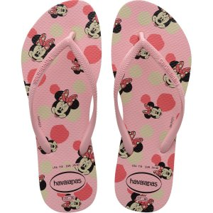 Chinelo Havaianas Feminino Slim Disney 33/4 Rosa Macaron Havaianas