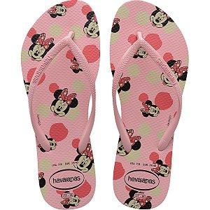 Chinelo Havaianas Feminino Slim Disney 35/6 Rosa Macaron Havaianas