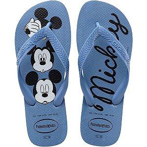 Chinelo Havaianas Infantil Top Disney 29/0 Azul Aço Havaianas