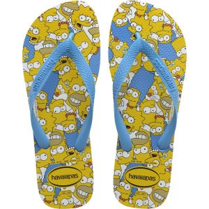 Chinelo Havaianas Masculino Simpsons 39/0 Branco/Turquesa Havaianas