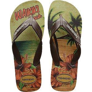 Chinelo Havaianas Masculino Surf 43/4 Areia/Cafe Havaianas