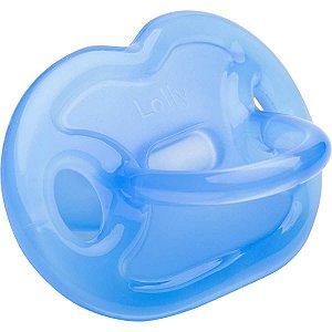 Chupeta Silicone 100% Orto T2 Azul Lolly