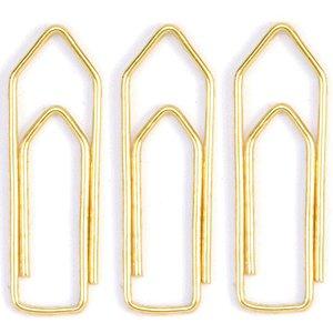Clips Colorido Ref.1/0 Dourado Cx.Plast.C/100 Acc