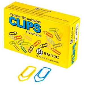 Clips Colorido Ref.2/0 C/100 Unidades Bacchi