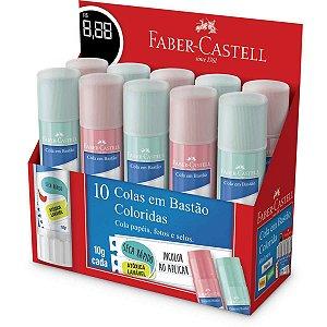 Cola Em Bastão Tons Pastel 10g. Sort. Faber-Castell