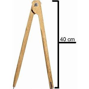 Compasso Madeira 40cm P/ Quadro Branco Souza
