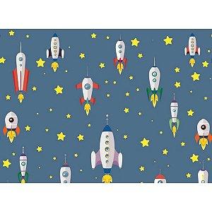 Contact Decorado 45cmx10m Foguete Espacial Plastcover