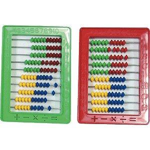 Contador Plástico Abaco Escolar C/100 Bolas Pais E Filhos