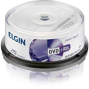 Dvd Gravável Dual Layer Dvd+R 8,5gb/240min/8x Elgin