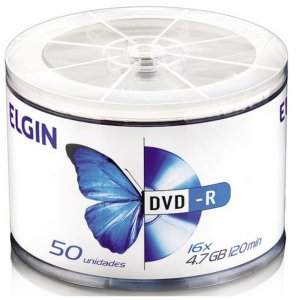 Dvd Gravável Dvd-R 4,7gb/120min/16x Elgin