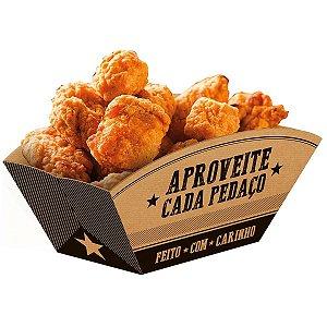 Embalagem Para Alimentos Bandeja Canoa Kraft Frases Festcolor