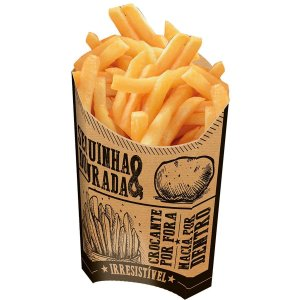 Embalagem Para Alimentos Batata Frita M Frases Cx.Kraft Festcolor