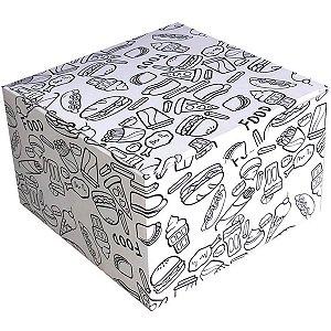 Embalagem Para Alimentos Box Burger Dec.12x12x7,5 Cristina