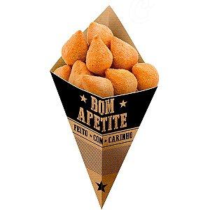 Embalagem Para Alimentos Cone Bicudo M Frases Kraft Festcolor