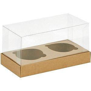 Embalagem Para Alimentos Cupcake Kraft 8,5x17x8,5cm Cristina