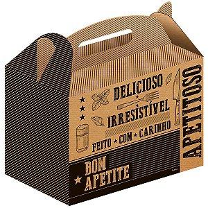 Embalagem Para Alimentos Lanche Frases Kit Cx.Kraft Festcolor