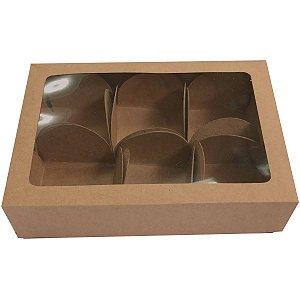 Embalagem Para Alimentos Trufas Kraft 13x9,2x3cm 6formi Cristina