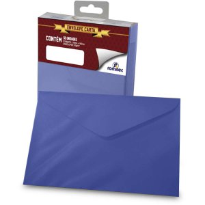 Envelope Carta Colorido Azul Marinho 80g 114x162mm Romitec