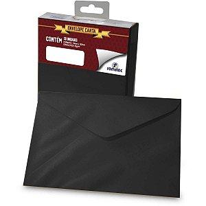 Envelope Carta Colorido Preto 80g 114x162mm Romitec