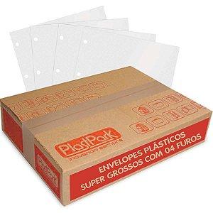 Envelope Plástico Oficio 4 Furos Grosso C/100un Romitec