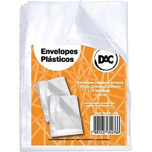 Envelope Plástico Oficio 4furos Grosso 0,15mm Dac