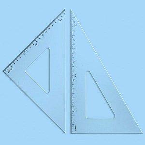Esquadro Acrílico Mod.1626 60g. 26cm/2mm Trident