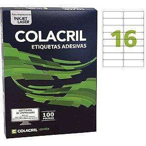 Etiqueta A4 33,9x99,1mm 100 Folhas Colacril