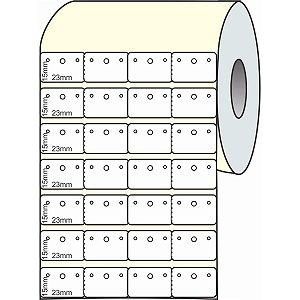 Etiqueta Para Joia Branca Adesiva 23mmx15mmx30m. Grespan