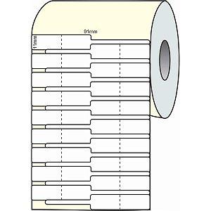 Etiqueta Para Joia Branca Adesiva 91mmx11mmx30m Grespan