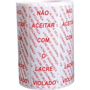 Etiqueta Para Marcação Lacre Seguranca 100x35mm 500et Fitacrel